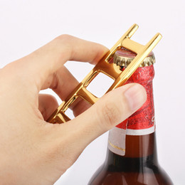 Wholesale Wholesale Can Soda - Creative Ladder Shape Bottle Opener Personality Ladder Shape Beer Soda Drink Bottle Opener Also Can Be A Key Chain