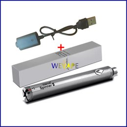 Wholesale Top Chargers For Ego Batteries - New Top Vision spinner II 2 1650mAh Ego twist 3.3 4.8V v variable voltage battery for Electronic cigarettes ego atomizer+usb charger