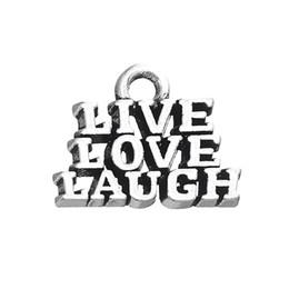 Wholesale Laugh Necklace - Unique Design Live Love Laugh Letter Charm Pendant Fit For Bracelet and Necklace Jewelry Making