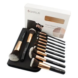 Wholesale High Quality Hair Products - 2017 trending beauty products makeup brushes high quality sixplus professional 11pcs rose gold makeup brush set in brown cosmetic bag
