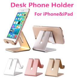 Wholesale Metal Mechanics - Metal Desk Phone Holder for iPhone&iPad Triangle Mechanics Design Lazy Aluminum Alloys Bracelet with Anti-skid Rubber Mats