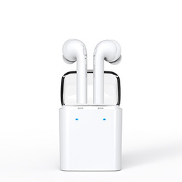 Wholesale Hd Twin - New New Dacom 7s Mini Twins Double-ear Wireless Bluetooth Headset True Wireless Earphones HD Stereo Earbuds with Charging box for Smartphon
