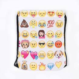 Gelbe rucksacktaschen online-3D Sport Rucksack Dame Im Freien Reise Beide Schultern Tasche Mode Emoji Gelb Bundle Pocke Kreative Geschenke Beliebte 9 ml C R