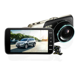 "Wholesale Full Backup - Dual Lens Car Camera 4.0"" Full HD 1080P 170Degree Car DVR DVRs Recorder With Rear View Backup Camera G-sensor Dash Cam TF Card"