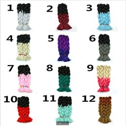 Wholesale Wholesale Synthetic African Hair - Hot selling 2 color gradient color 23 style Big braid Hair Dirty braid African style popular women Chemical fiber Hair
