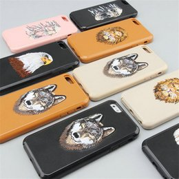 Wholesale Embroidery Cases Iphone - 2 In 1 Hybrid Case for Iphone 7 6 6s Plus Samsung Galaxy S8 Plus Animal Embroidery Combo All-inclusive shockproof protection Phone Case