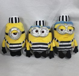 Wholesale Despicable Minions Stuffed Toys - 171217 Minions Despicable Me 25cm Kevin Bob New Arrival Hot Sell Stuffed Animals & Plush Toys Birthday Gift Action Figure Free Shipping