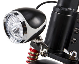 Wholesale Moped Led - 24v36v48v universal LED frontlight lamp with horn for scooter electric bike moped tricycle headlight with switch conversion part