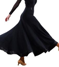 Wholesale Ballroom Dance Fashion - 2017 New Ballroom Dance Skirts for Women Black Color Big Hem Fashion Skirt Waltz Flamenco Dance Dress Ballroom Dance Dresses CADB036