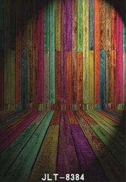 Wholesale Wood Photography Props - 5x7ft Vinyl Custom Wall and wood theme Studio Photography Backdrops Props J-8384