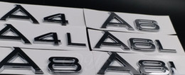 Wholesale Audi A4 Chrome - Chrome Shiny Silver Rear Trunk Letters Number Badge Emblem Emblems for Audi A3 A4 A6 A8 A4L A6L A8L