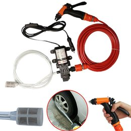 Wholesale High Pressure Washer Pumps - Wholesale- 70W 130PSI High Pressure Self-Priming Electric Car Washer Water Pump Washing Machine Cigarette Lighter Car House Clean Tool 12V
