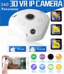 Wholesale Hidden Home Wireless Security Camera - 360 Degree Panorama VR Camera HD 1080P  3MP Wireless WIFI IP Camera Home Security Surveillance System Hidden Webcam CCTV P2P MOQ:1PCS