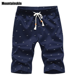 Wholesale Wholesale Board Shorts Clothing - Wholesale- Mountainskin 2017 Print Men's Shorts 4XL Summer Men Beach Shorts 100% Cotton Casual Male Board Shorts homme Brand Clothing SA2