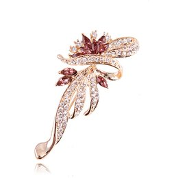 Wholesale Cheap Scarves China - Fantastic Crystal Brooch Bling Bling Austrian Diamnate Exquisite Flower Women Scarf Pins Hot Selling Cheap PriceBrooches Birdal Bouquet Pins