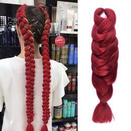 Wholesale Long Hair Extensions Blonde - Synthetic Braids Hair 84'' 165g Pack Long Black Blonde Blue Brown Burgundy Crochet Braiding Hair Extensions