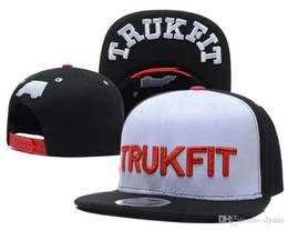 Wholesale Trukfit Black Pink - Snapback Hats Caps Hats for men Adjustable New Color Brown Snapbacks Cheap Hat Cap Collection Trukfit TMT Snapbacks Mix Order Free Shiping