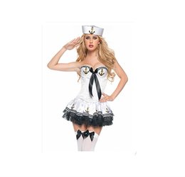 Wholesale Costumes Play Performance - Sailor Suit Navy Suit The Princess Dress That Wipe A Bosom Nightclub Stage Clothing Singer Performance Play Clothes
