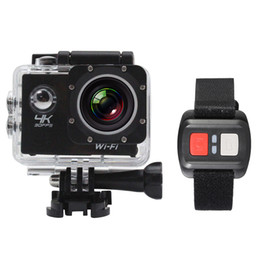 """Wholesale Zoom Camera Remote Control - 4K Camera 2"""" LCD Screen Wifi Action Camera 4X Zoom 16MP Sport Camera Waterproof 30M with Remote Control"""