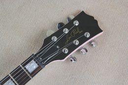 Wholesale Electric Guitar Semi Hollow White - Free shipping HOT selling! new model LP Custom EMG pick-up Lp Zakk Wylde Vertigo pink Electric Guitar