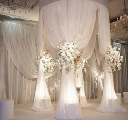 Wholesale Arch Stand - adjustable 2m diameter 3m tall circle single tube of wedding pipe and drape pavilion for wedding arch, chuppah, backdrop stand