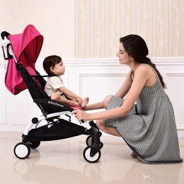 Wholesale Pram Stroller Carriage - 2017 new European high Landscape portable lightweight baby stroller foldable baby pram pushchairs kinderwagen baby carriage free shipping