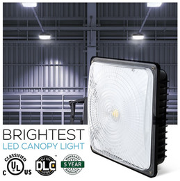 Wholesale Led High Bay Lighting - AC 85-277V High Bay Lighting For Warehouse Workshop Hall Lobby Lighting IP65 Waterproof 40W 60W 80W Led Canopy Lights UL DLC