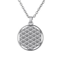 Wholesale Pendant Flower Life - Myth Love Knot Flower of Life Egyptian Style Mandala Necklace Three Kind of Shapes for Choice for Men and Women Free Shipping