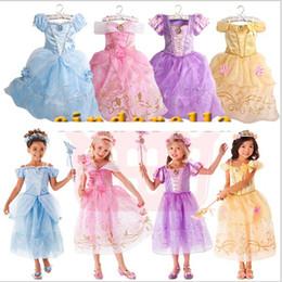 Wholesale Teenage Princess Style Dresses - 9 Styles Cinderela Girls Princess Dress Kids Girl Vestidos Baby Children Cosplay Dresses Princess Party Kids Dresses