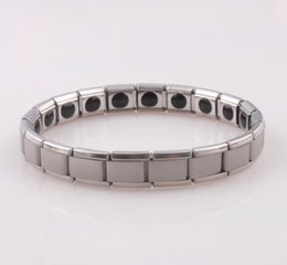 Wholesale Titanium Magnetic Stainless Energy - hot selling New arrival 10pcs Energy bracelet Titanium, Nano Energy Magnetic Germanium Titanium Bracelet Pain Relief Powerfull! 47