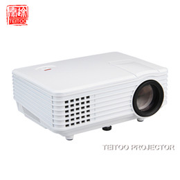 Wholesale 3d Projector Cheap - Wholesale- Wholesale New 800*480 Full HD 1080P Pico LED Projector for Home Theater Movie Computer Cheap Data 3D Pocket Media Projector