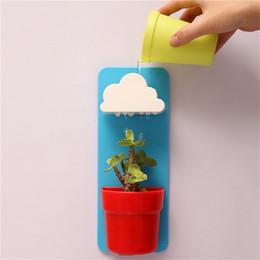 Wholesale Mini Cloud - New Mini Creative Cloud Rainy Plant Flower Pot Planter Nutritional Soil Seed Balcony Decoration DIY Free Shipping 0701036