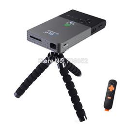 Wholesale Throw Backs - Wholesale-Mini FULL HD DLP Bluetooth Projector LED lamo 5G Wifi(AP6330) BT4.0 HDMI USB VGA Throwing Back Projectrion Desktop Home Theater