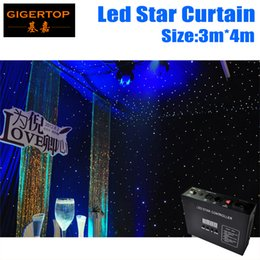 Wholesale Background Backdrop 3m - 3M*4M Led Star Curtain 240pcs Color Mixing RGB RGBW For Stage Background LED Backdrops LED Curtain Screen Flexible! Flodable! Protable!