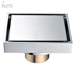 Wholesale Brass Shower Drain - hm Floor Drain Brass Square Shower Drainer Grate Waste Tile Insert Square Floor Waste Grates Bathroom Drains Drain Strainers 170305#