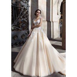 Elegant Wedding Dress Cathedral Train Lace Bulk Prices