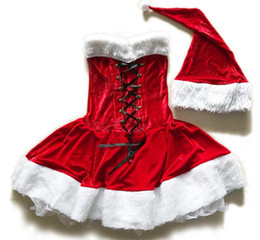 Wholesale Christmas Holiday Women Clothing - new sexy Christmas clothing adult female Cosplay costumes lingerie uniform temptation birthday holiday dress