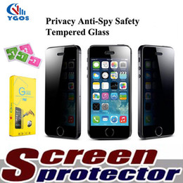Wholesale Iphone 4s Scratch Guard - For iPhone X Anti Privacy Anti-Spy Real Tempered Glass Screen Protector Film Protective Guard for iPhone 7 Plus 6 6S 5 5S 4 4S