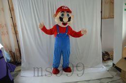 Wholesale Super Mario Costume Make - Custom 2016 high quality super Mario mascot costume adult Halloween festival mascot costume makeup free delivery date