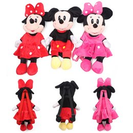 Wholesale Cheap Backpacks For Kids - Wholesale Cheap New Bags For Kids Disney Toys Children Plush Backpacks Cute Cartoon Anime Minnie Mickey Stuffed Bags Dj055