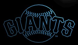 Wholesale Sf Wedding - LS869-b-SF-Giants-Neon-Signs Decor Free Shipping Dropshipping Wholesale 6 colors to choose