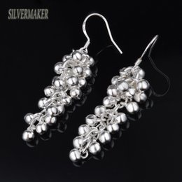 Wholesale Earring Grape Silver - 3PAIR 6PCS Free Shipping 925 Sterling Silver Earrings Grapes Pearl Earrings 925 Sterling Silver Earrings wholesale jewelry Gift