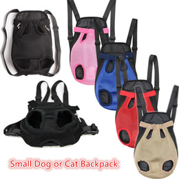 Wholesale dog backpack large - Pet supplies Dog Carrier small dog and cat backpacks outdoor travel dog totes 6 colors free shipping