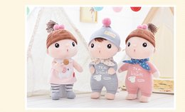 Wholesale Western Dresses For Baby Girls - 2017 new arrival Cute Dolls Baby Metoo Plush Toys Stuffed baby Dolls for Girls Baby Kids Toy