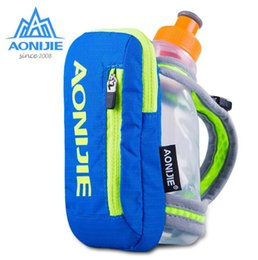 Wholesale Hand Held Water Bottle - Wholesale- AONIJIE Outdoor Sports Bag Waterpoof Nylon Marathon Hiking Cycling Running Hand Hold Kettle Bag Optional Water Bottles
