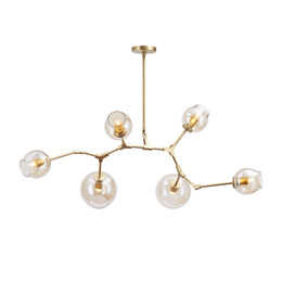 Wholesale Tree Bedroom - Lindsey Adelman Chandelier Light Modern Lamp Novelty LED Pendant Lighhting BRANCHING Natural Tree Branch Christmas Lights Hotel Dinning Room