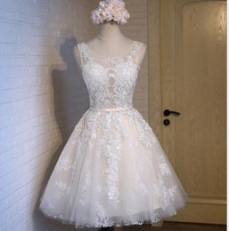 Wholesale Pink Small Girls Model - Wholesale 2017 new dress small summer bridesmaid dress lace ball gown wedding dresses