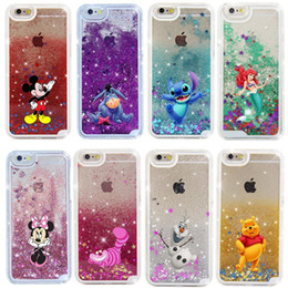 Wholesale Cases For Iphone Bling - Cartoon Quicksand Liquid Glitter Bling Hard Phone Case For iPhone X 5 SE 6 6s 7 8 plus Samsung S6 S7 edge S8 plus
