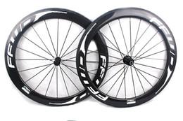 2019 bicicleta de ciclocross de carbono FFWD avance rápido ruedas de bicicleta de carbono F6R 60 mm todas las calcomanías blancas remache tubular carretera bicicleta ruedas set 700C ancho 25 mm hub Powerway R13