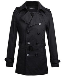 Wholesale Europe Trench - Europe and the United States cultivate one's morality men's winter new boutique fashion personality pure color trench coat  M-XL